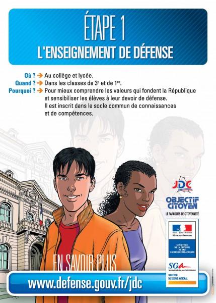 Etape 1 - Enseignement de la défense